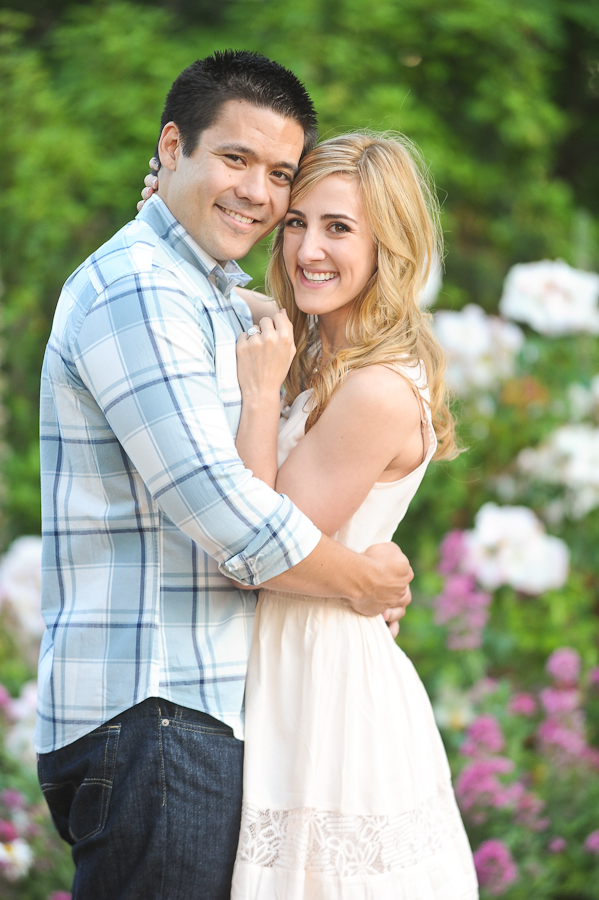 engagement session luther burbank gardens santa rosa