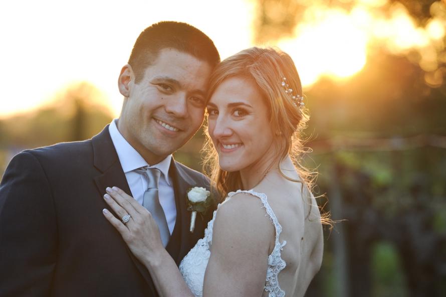Bride and Groom wedding vintners inn santa rosa wedding